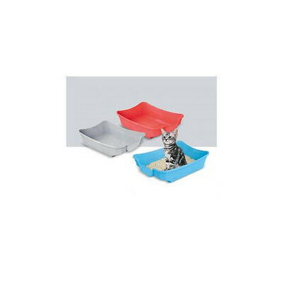 "Imac S.R.L Polly Cat Litter Tray Assorted 35x25x10cm (14x10x4"")"