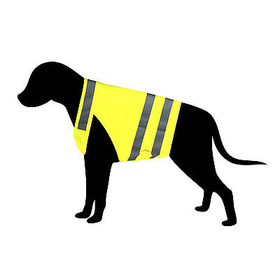Hi Vis Dog Vest - High Visibility Cat Safety Vest Reflective Pet Jacket Coat