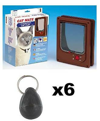 Pet Mate 254b Cat Mate Electromagnetic Pet Cat Door 4 Way Locking with 6 magnets