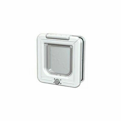 Pet Mate Rotary 4-way Locking Cat Flap White