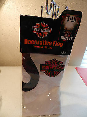 "HARLEY-DAVIDSON MOTORCYCLES DECORATIVE ESTATE SIZE 30"" x 43"" FLAG IT'S LIFE"