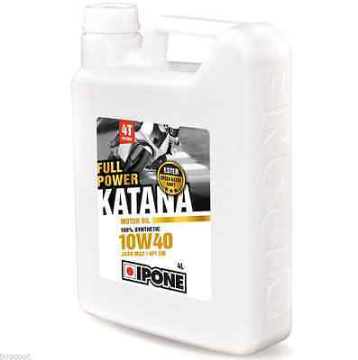 Huile IPONE Katana Full Power 10W40 4 litres moto route circuit compétition 4L