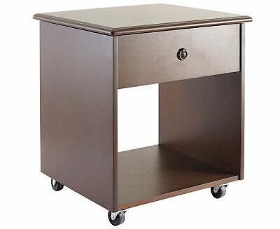 Lift Top Table Side Pull Out Tray Wooden Home Living Room Furniture Castors
