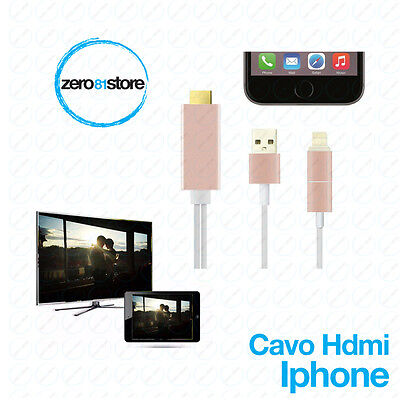 2M 8pin Cavo Video Adattatore a HDMI HDTV 1080P per iPad con sim , Iphone 5 6s