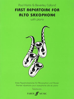 First Repertoire for Alto Saxophone Sheet Music Book Paul Harris Beverly Calland