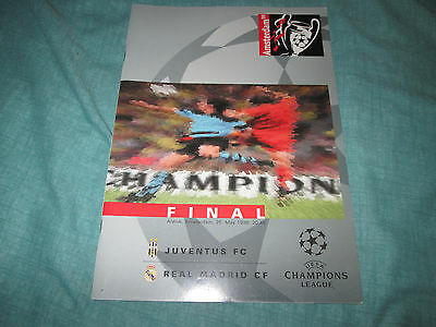 1998 Champions League Final programme Juventus v Real Madrid