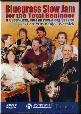 Bluegrass Slow Jam for the Total Beginner 5-String Banjo Tuition DVD NEW SEALED