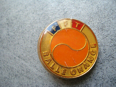 Insigne Tennis Fft Balle Orange Federation Francaise