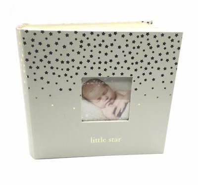 Baby Photo Album With Gold Hearts - Little Star 4x6 80 Photos CG1349