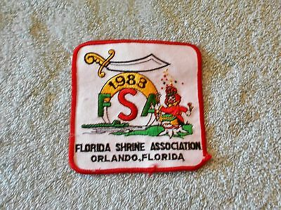Vintage 1983 Florida Shrine Association Embroidered Clown Patch Masonic