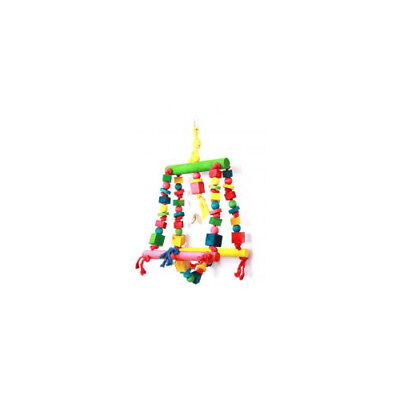 Happy Pet Products Parrot Toy Double Swing