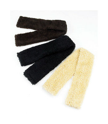 Sale Hy Fur Fabric Fleece Girth Sleeve Cover - Black