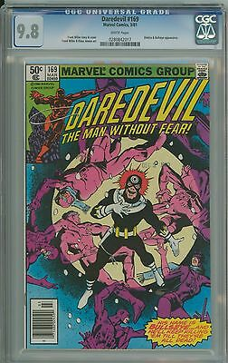Daredevil 169 CGC 9.8 NM/MT White Miller 2nd Elektra appearance Newstand Marvel