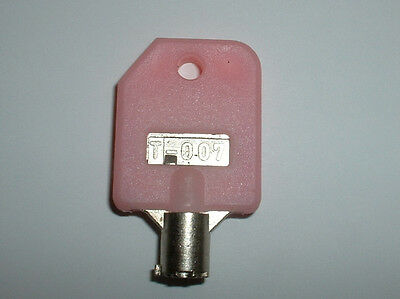 Pink T 007 key for vending machine. Free Shipping. T-007 T007