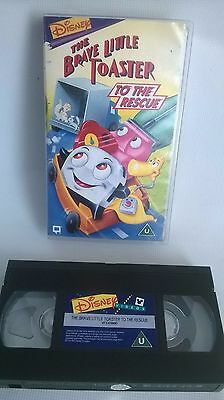 The Brave Little Toaster To The Rescue Video VHS Tape Disney U PAL Walt Vintage
