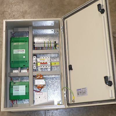 Energy management control Cylon UC8 controller UC16RP4 relay 600mm metal box