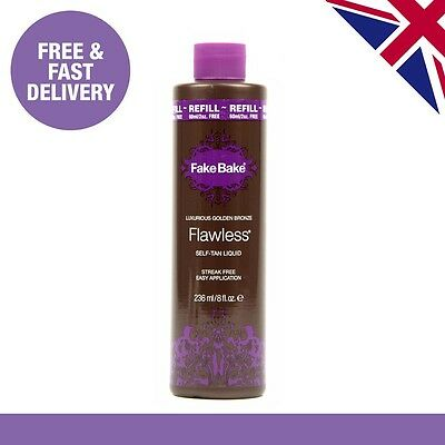 Fake Bake Flawless Spray Tan 236ml, Refill Tanning Bottle, Self Tan Liquid, New