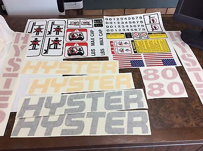 Hyster Forklift decal complete kit with safey decals. model S80 or H80