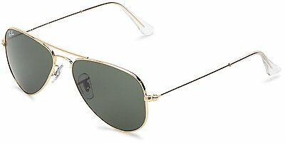 Ray-Ban RB3044 L0207 Aviator Small Gold Frame Green Classic 52mm Lens Sunglasses
