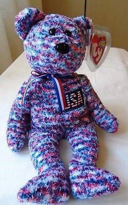 TY Beanie Baby tedy bear USA Rare and Original collectible with Tag soccer sport