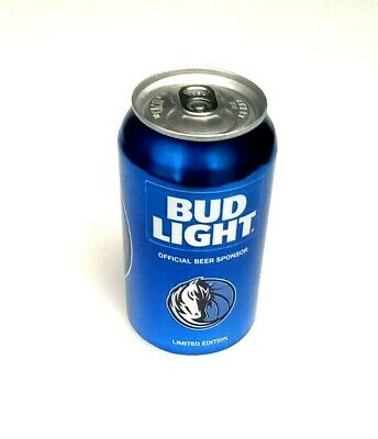 2016 Bud Light NBA Dallas Mavericks Beer Can Limited Edition 1 Can Blue EMPTY