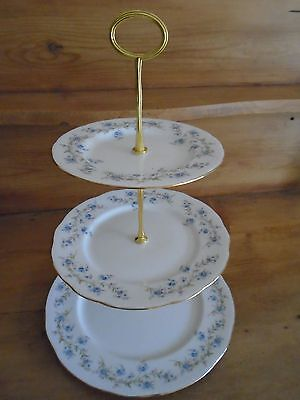 Vintage Duchess Tranquility 3 Tiered Cake Stand For A Teapot/teaset/wedding