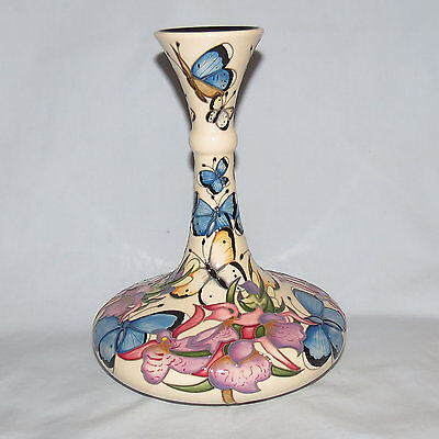 Moorcroft Ltd Ed Butterfly Cloud Vase Boxed First Quality