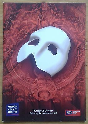 The Phantom of the Opera programme Milton Keynes Theatre 2012 Earl Carpenter