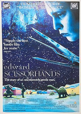 Edward Scissorhands / Original Vintage Video Film Poster / Johnny Depp 5