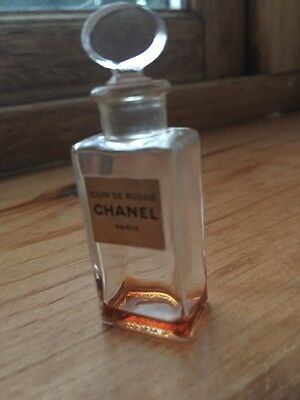 Chanel Vintage Cuire De Russie Miniature Bottle