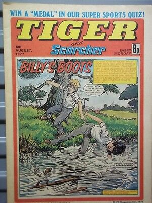 Tiger And Scorcher Comic; 6Th Aug.1977.roy Mcfarland Back Cover Picture