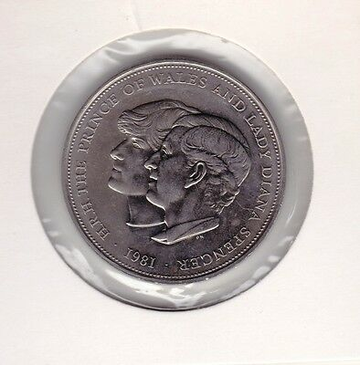 1981 Uk Charles & Diana Crown Coin