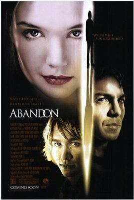 New Original Abandon 27x40 Double Sided Poster D/S Katie Holmes