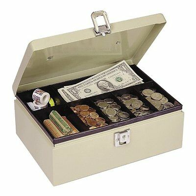 MMF 221612003 Industries Steel Cash Box with Locking Latch, Sand ~ Free Shipping