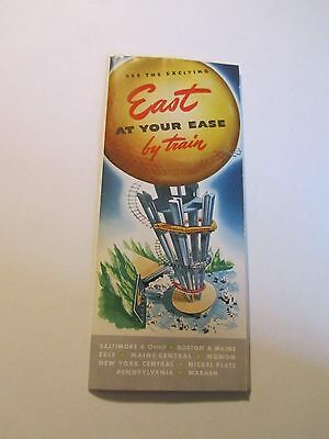 Vintage See the Exciting East at your Ease by Train Brochure