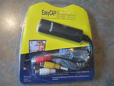 EasyCap  Usb 2.0 Video Capture Card DC60+ DVD TV VHS Audio Adapter