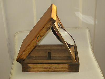 Victorian Campaign Shaving Box With Original Mirror And Contents