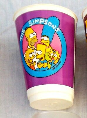 The Simpsons Vintage Plastic Cup 1998 Simpsons Family Tumbler Rare Official