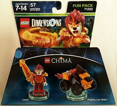 New Lego Dimensions Fun Pack Legends Of Chima Laval 71222 Free World Shipping
