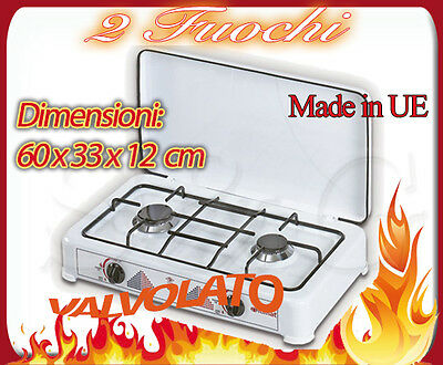 Itimat Gas 2 Burners Cooker Camping Gpl Kitchen With Valve Safety