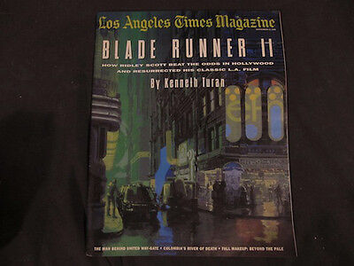 L A Magazine 1992 Blade Runner Issue Syd Mead Large Cover Art Ridley Scott