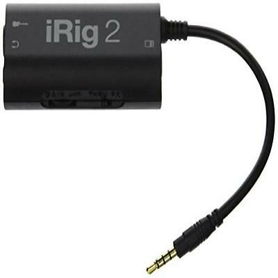 Ik Multimedia Irig 2 Audio-Interface To Record Guitar On Apple Android Musical