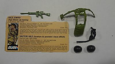 1984 GI Joe Ripcord Complete Set of Weapons w/File Card! Vintage Hasbro