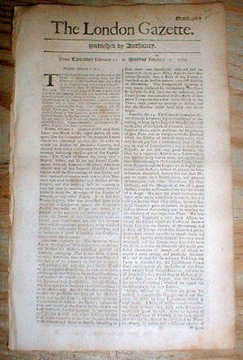 1702 newspaper 1st POSTAL RATES established between ENGLAND & AMERICAN COLONIES