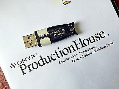 Onyx Productionhouse Wide Format Rip Software Solution Dongle/key Manuals Discs