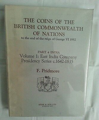 pridmore coins british commonwealth part 4 india vol 1 ca1642-1835 OUT OF PRINT