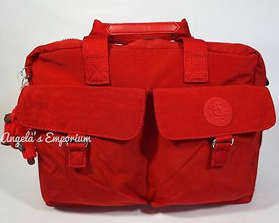 KIPLING NEW BABY Nursery / Diaper Bag with Changing Mat Cherry
