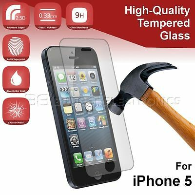 iPhone 5/5C/5S/SE Tempered Glass Screen Protector