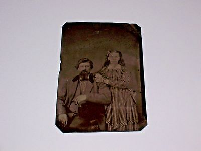 Vintage Original Civil War Era Tin Type Photograph