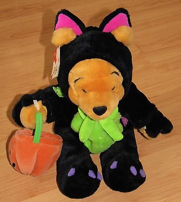 Disney Store Scardy Cat Pooh Halloween Winnie The Pooh Soft Toy / Plush 14""